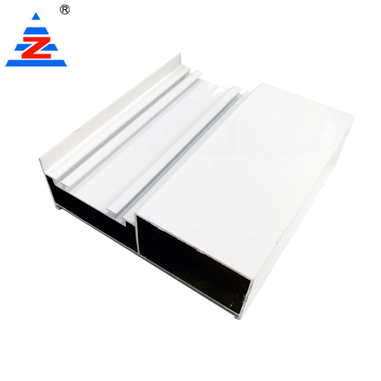 Aluminium wardrobe extrusions profile white powder coating