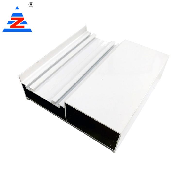 Aluminium wardrobe extrusions profile white powder coating