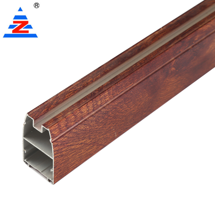 Aluminium profile for wardrobe with wooden color