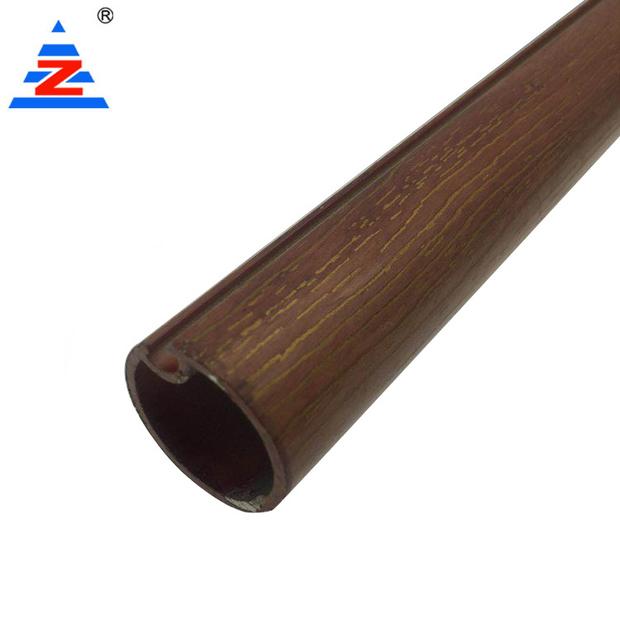 Custom aluminium curtain rod wood color high quality