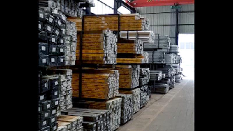 Industrial aluminum profile making