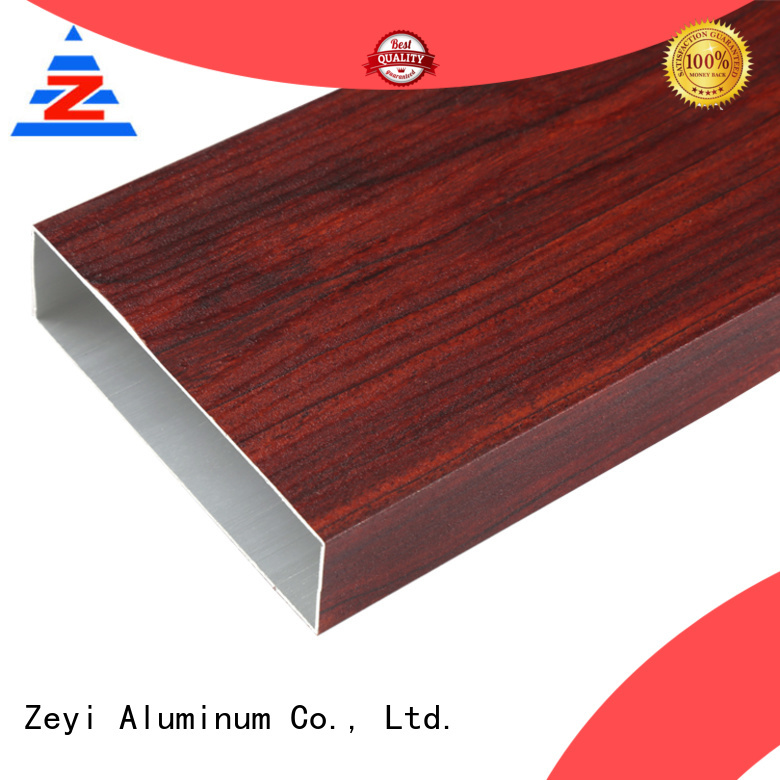 Zeyi colors aluminium profile price supply for decorate